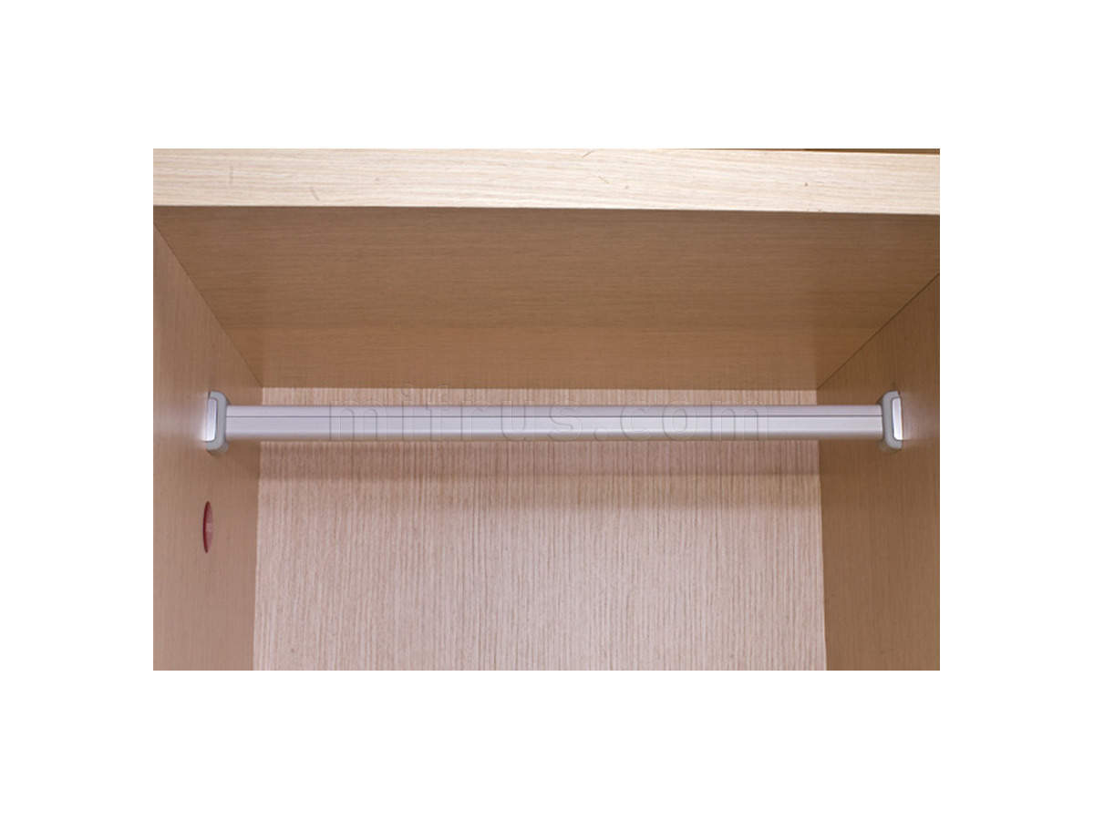 Tornedo T006-G Штанга 30 х 15 мм для шкафа, алюминий/серый металлик, L=3000 мм (40)