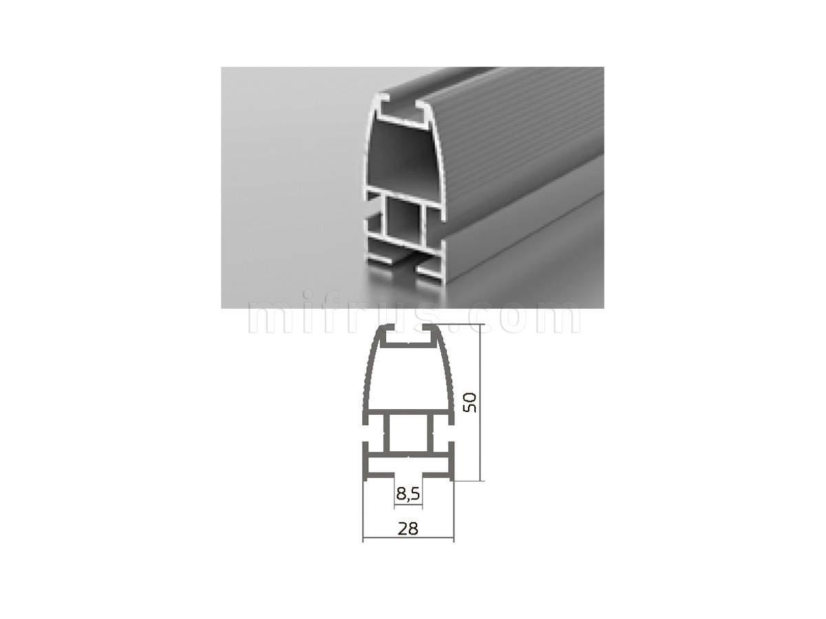 Профиль МП1-01 серебро (6м)
