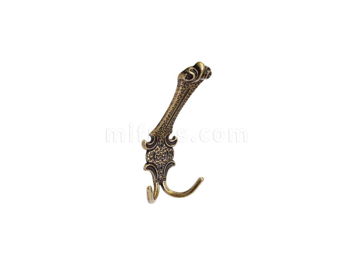 Крючок 11.405.А20 (82х180 мм), бронза античная (50)
