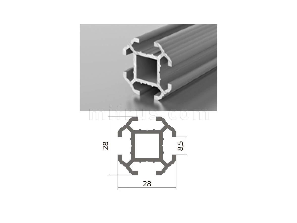 Профиль МП1-04 серебро (6м)