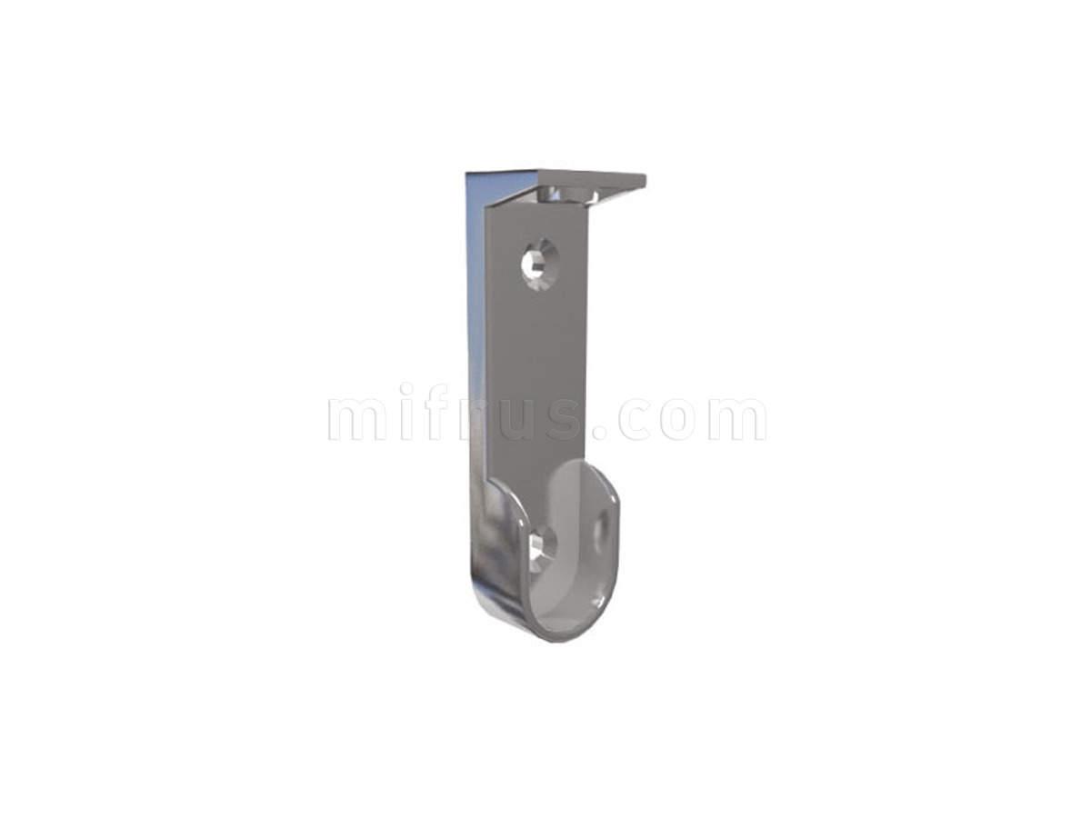 Штангодержатель HA06.NI для овальной штанги 15 х 30 мм (2 боковых отв. + 1 верхн.), никель (100)