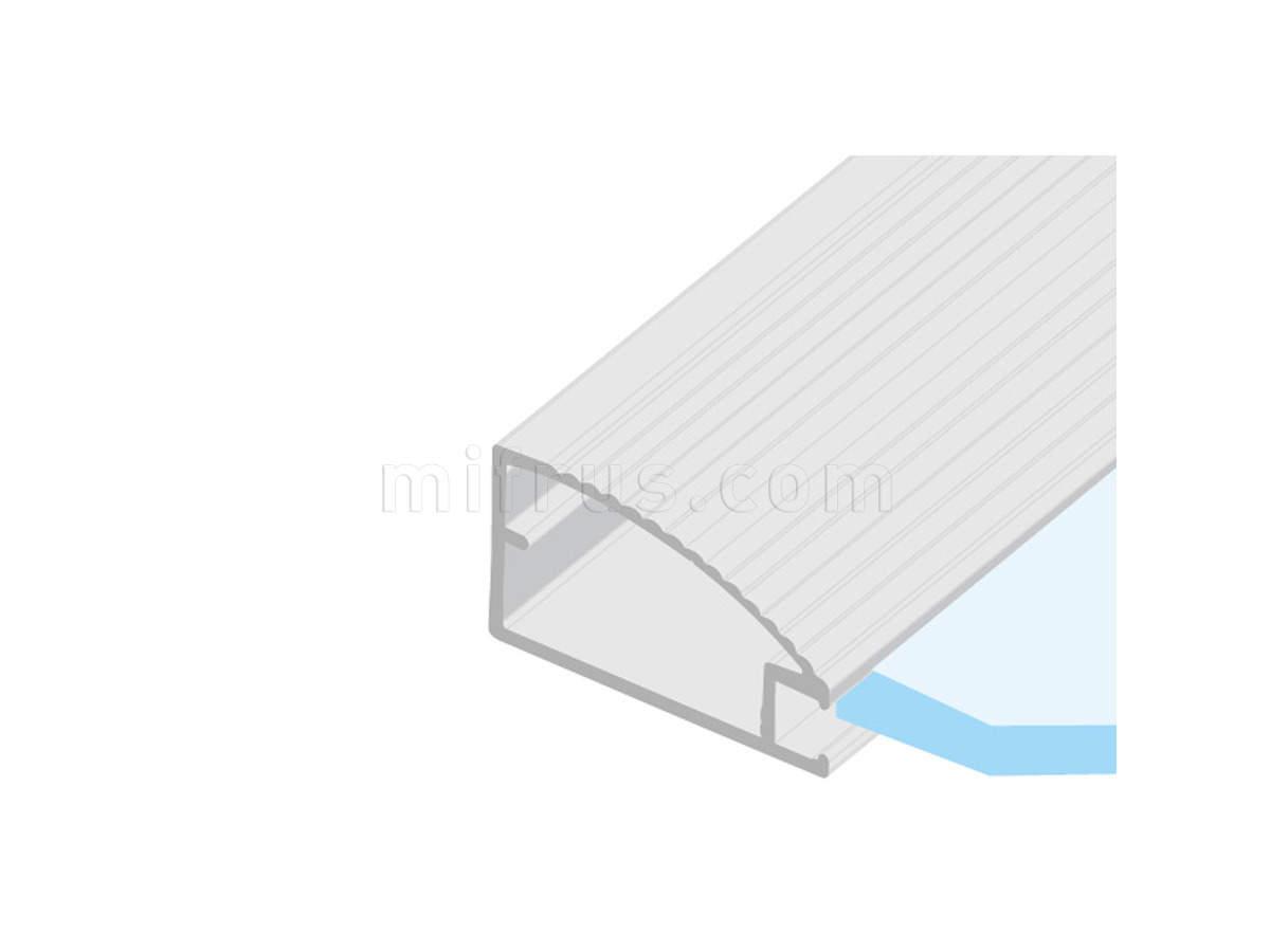 HE.954 Профиль рамочный овальный 42 х 22 мм рифленый, алюминий L=4 м (20)