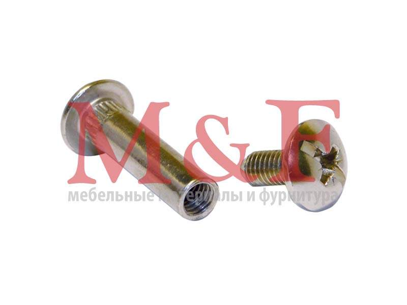 Стяжка межсекционная ФИМ L-32мм D-8 мм никель(1000шт)