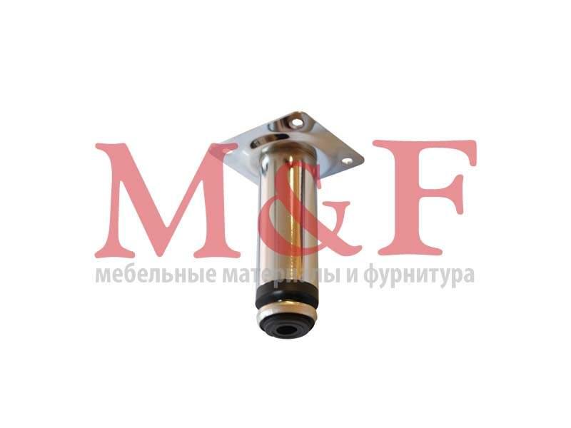 Опора цокольная 30х100 мм хром регулируемая