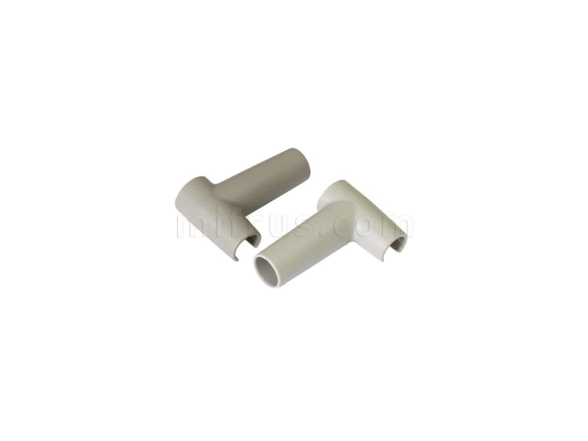 TEN Комплект L-образных креплений (2 шт.) для профиля-делителя, отделка серая 58AXL0S60000000
