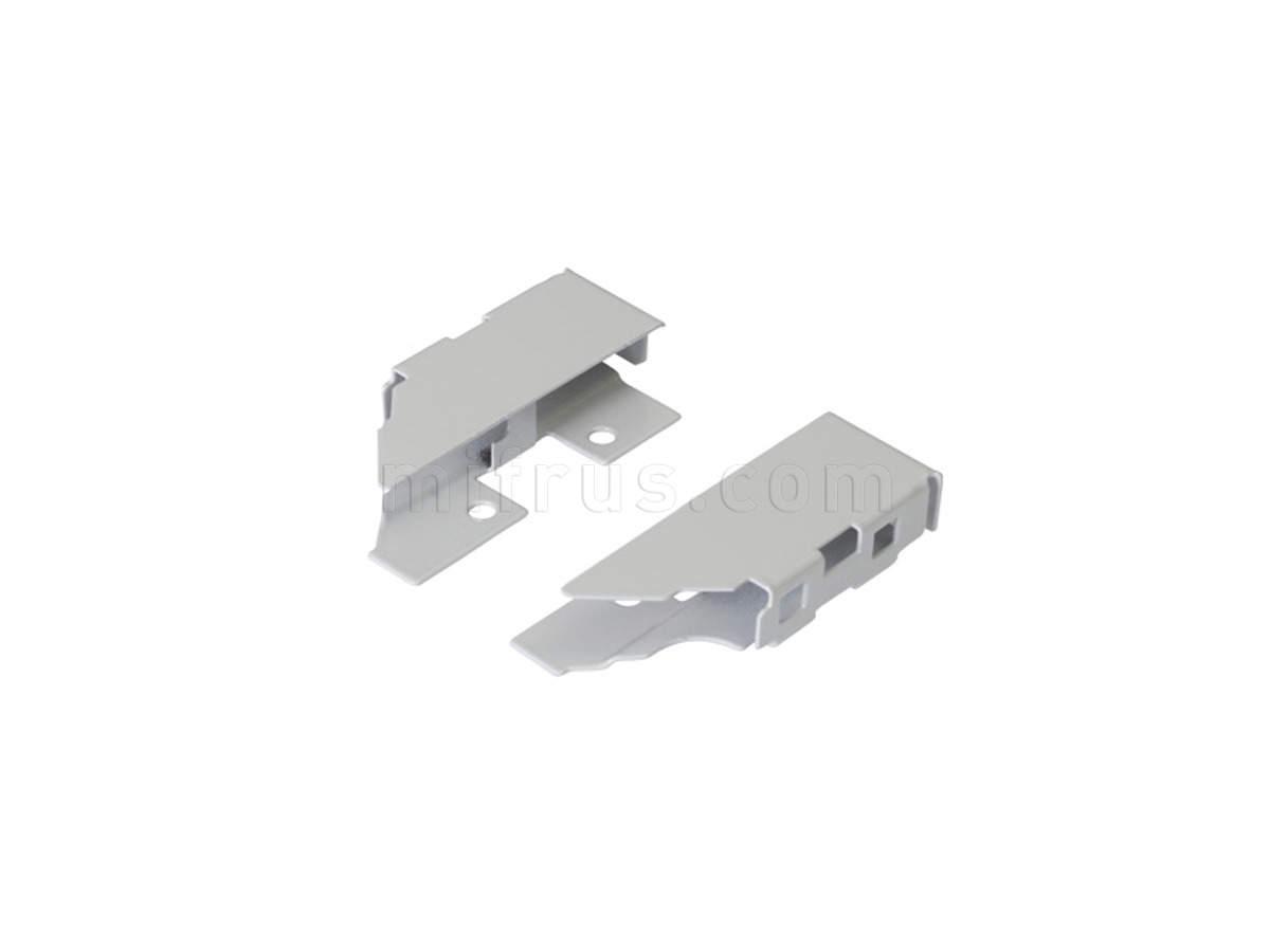 TEN Комплект креплений серый для задней стенки H.90 из ДСП 16мм 58AXPAA6U000B00